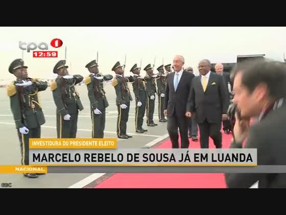 """Marcelo Rebelo de Sousa já em Luanda """"Investidura do Presidente eleito"""""""