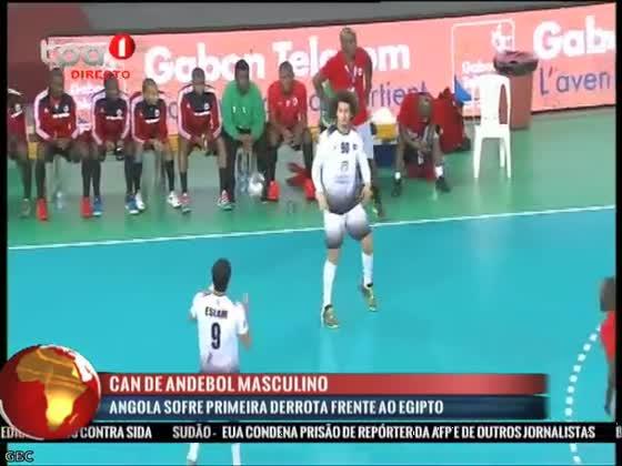 Angola sofre primeira derrota frente ao Egipto