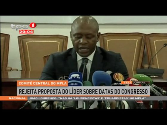 Comité Central do MPLA rejeita proposta do líder