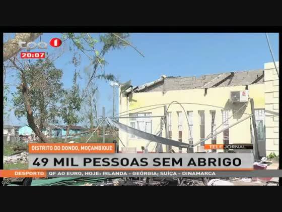 Distrito do Dondo em Moçambique 49 mil pessoas sem abrigo